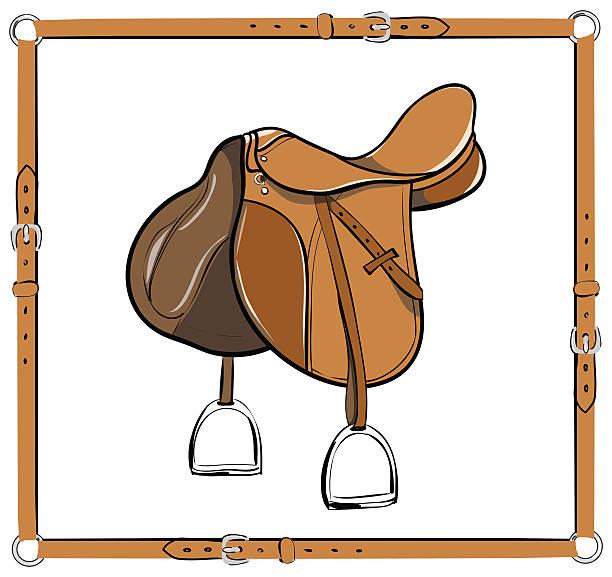 Best Horse Saddle Illustrations, Royalty.