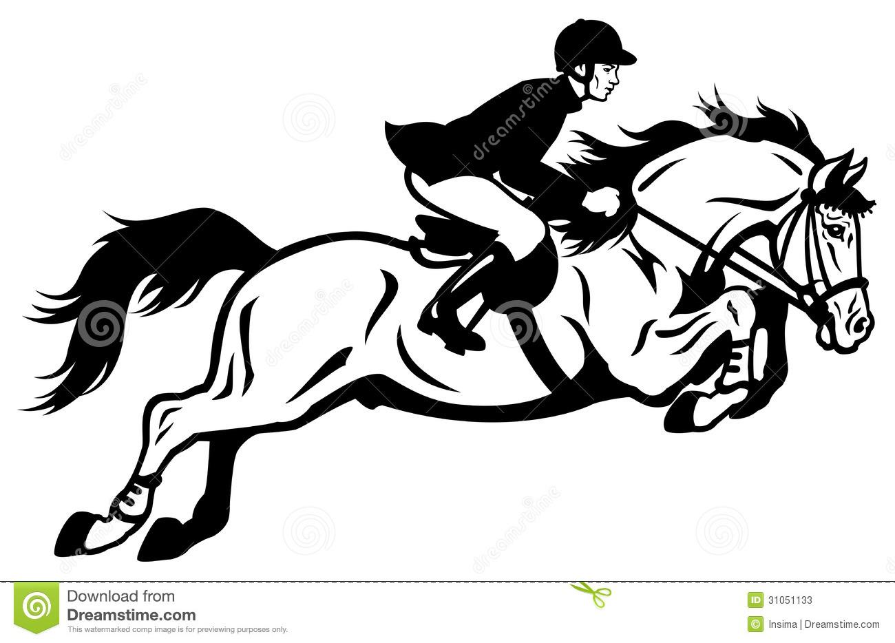 Show Jumper Horse Clipart.