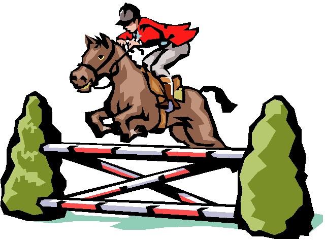 Jumping Horse Clip Art.