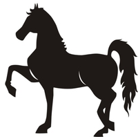 Horse show clip art.