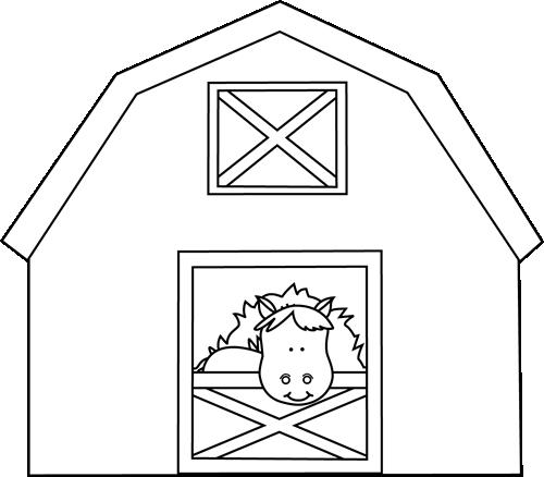 Horse Barn Clipart.