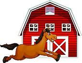 Horse Barn Clip Art.