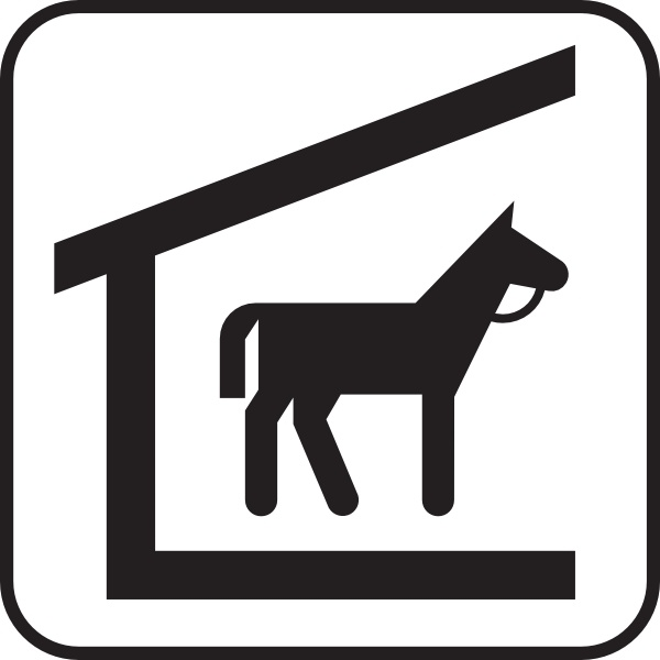 Horse Stable clip art Free vector in Open office drawing svg.