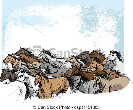 Stampede Illustrations and Clipart. 100 Stampede royalty free.