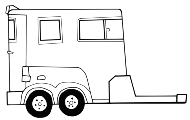 Free Clipart: Horse Trailer.