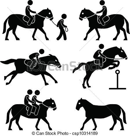 Vector of Horse Riding Jockey Equestrian.