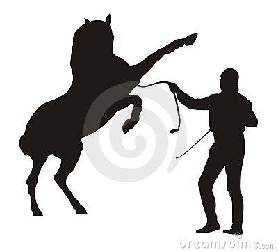 Horse Trainer Stock Photo.