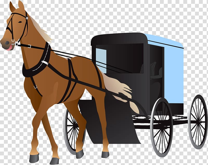 Horse and buggy Carriage , Carriage transparent background PNG.