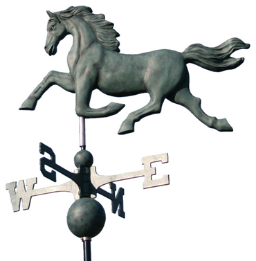 Red Hawk Horse Weathervane Icon, PNG ClipArt Image.
