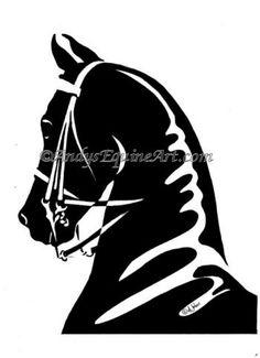 Clip Art saddlebred.