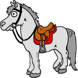 Horse with Saddle clipart, cliparts of Horse with Saddle.