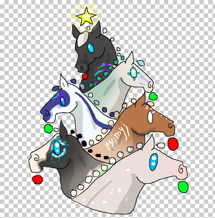 Christmas tree Horse Christmas ornament , christmas tree PNG.