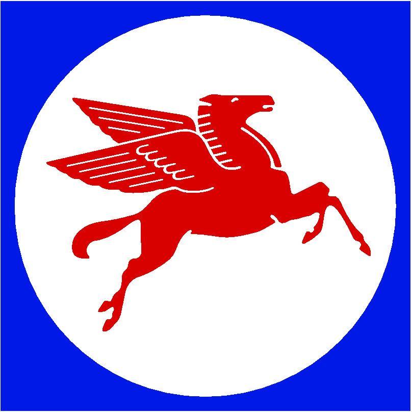 Mobil Pegasus logos brand design.