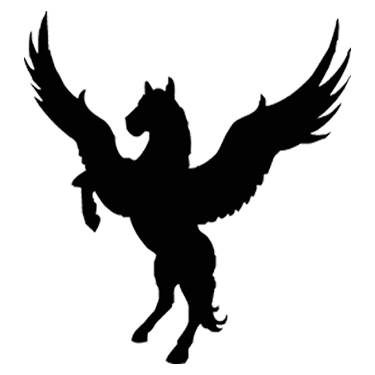 Details about 2X Wings Flying Horse Funny Wall Stickers Art Decor Car  Window Door Vinyl Decal.