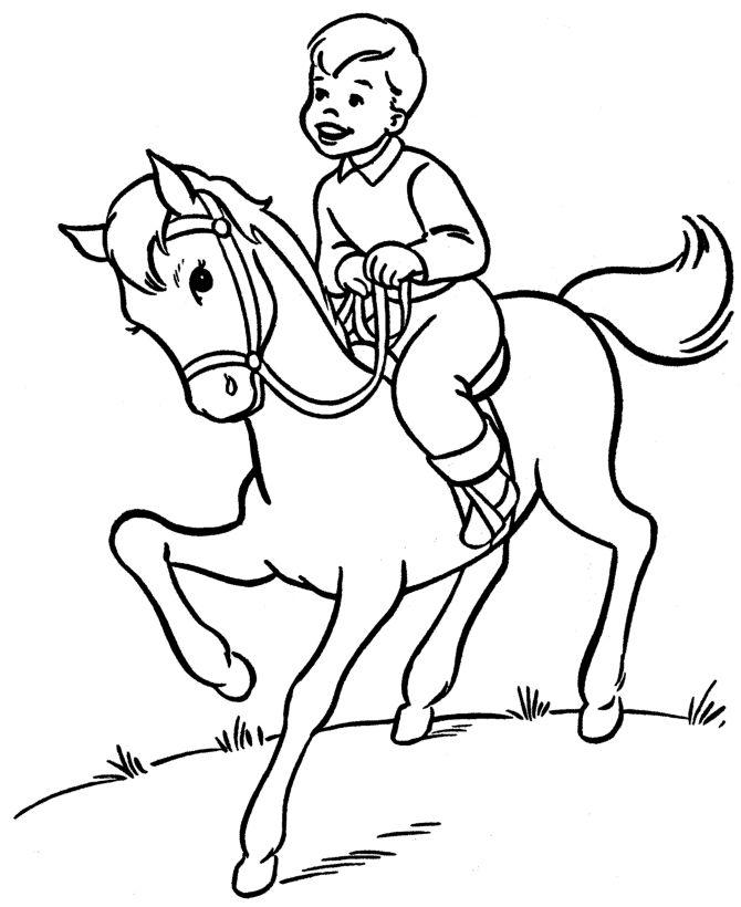 Horse Riding Clipart Black And White.
