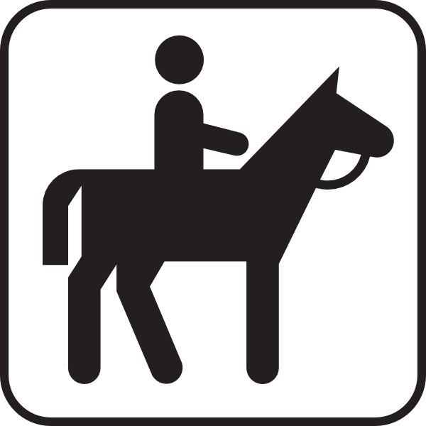Horse Back Riding clip art Free vector in Open office.