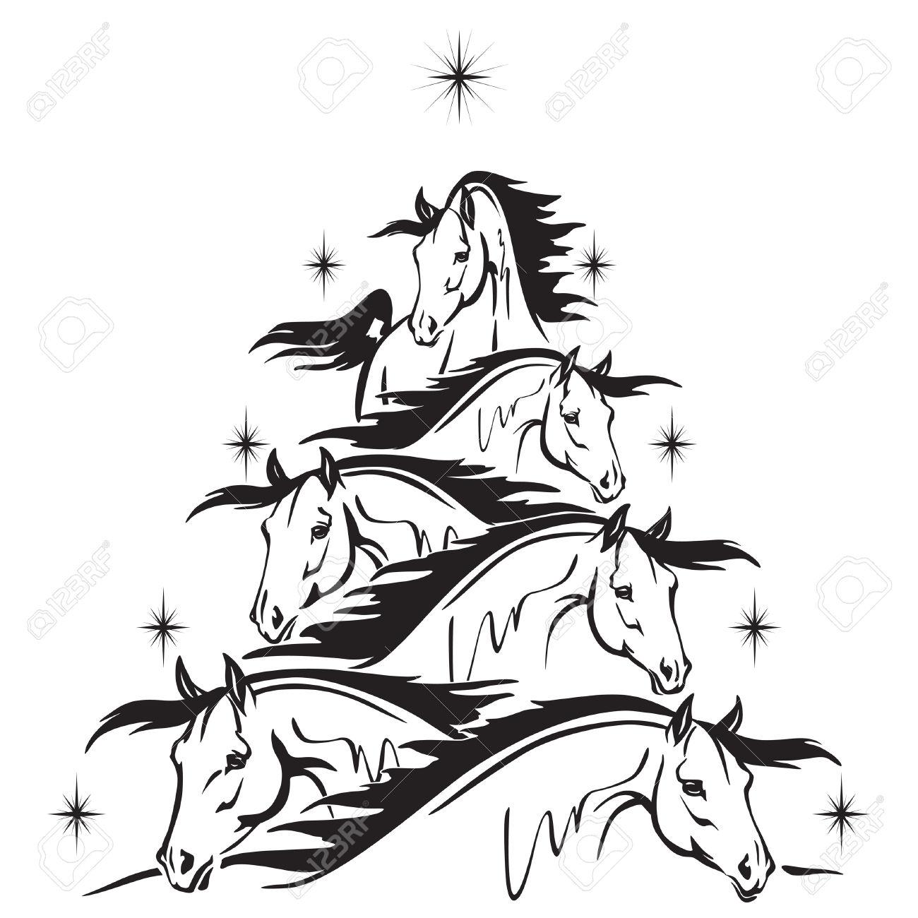 Christmas Tree Stencil Free