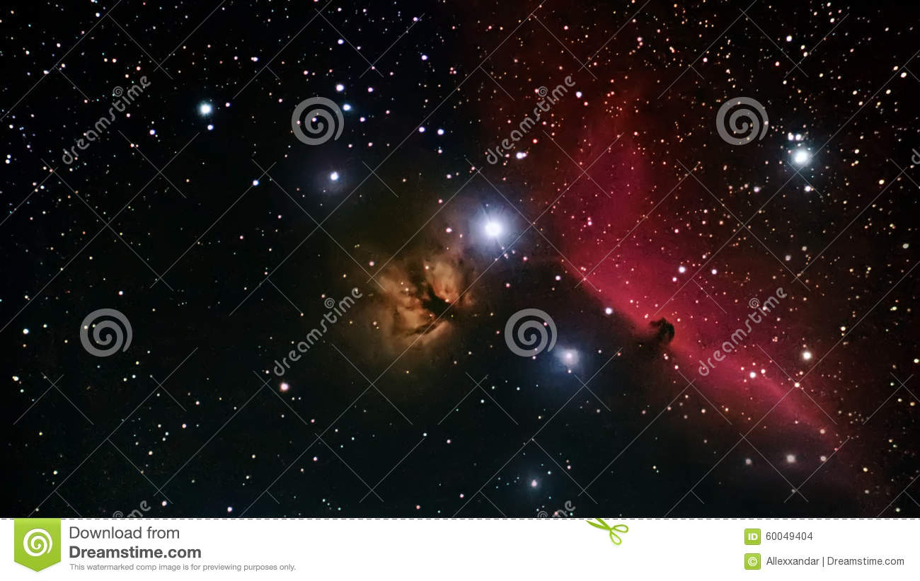 Horsehead Nebula Deep Space Beautiful Night Sky The Horsehead.
