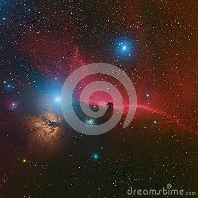 Horsehead Nebula Deep Space Beautiful Night Sky The Horsehead.