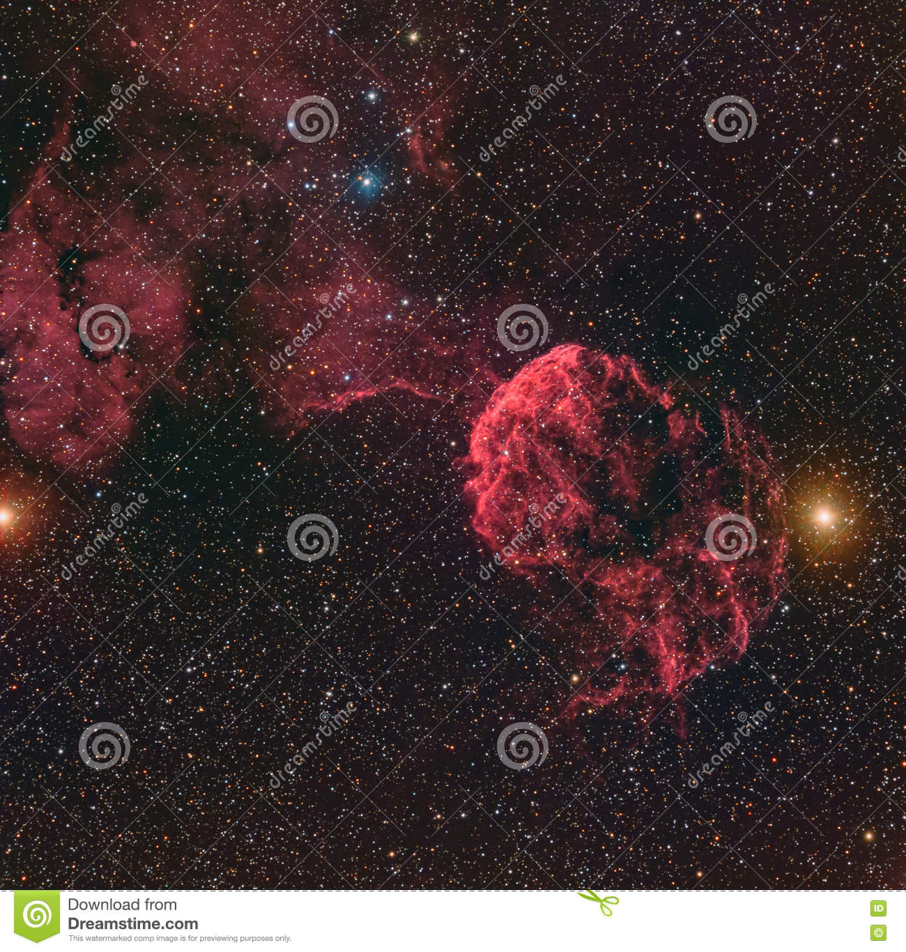 Horsehead Nebula Or Barnard 33 In The Constellation Orion Taken.