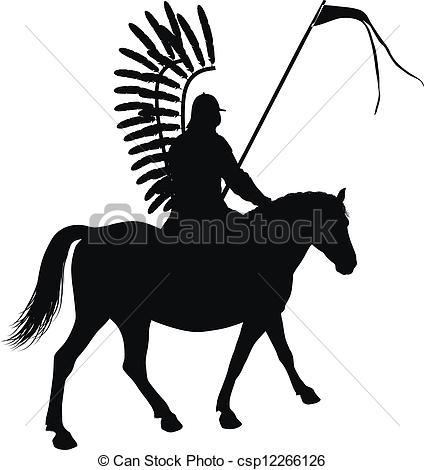 Horseman Clip Art.