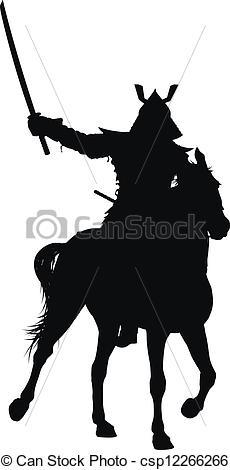 Clip Art Vector of Vector horseman.