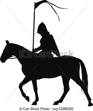 Vector Illustration of Vector horseman.