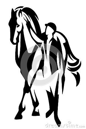 Horsemanship Stock Vector.