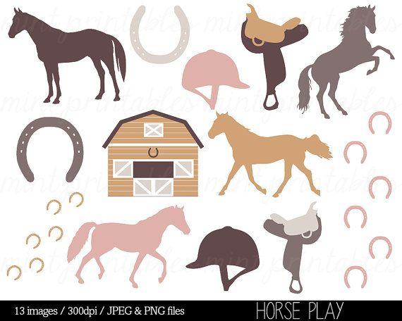 Horse Clipart, Horses Clip Art, Stable, Horse riding, Saddle.