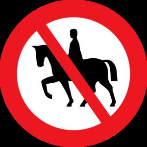 Horse Riding Prohibited White Bg Clip Art at Clker.com.