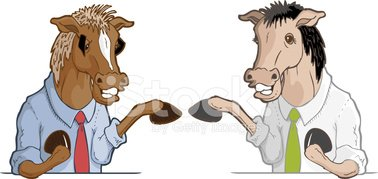 Horseplay Stock Vector.