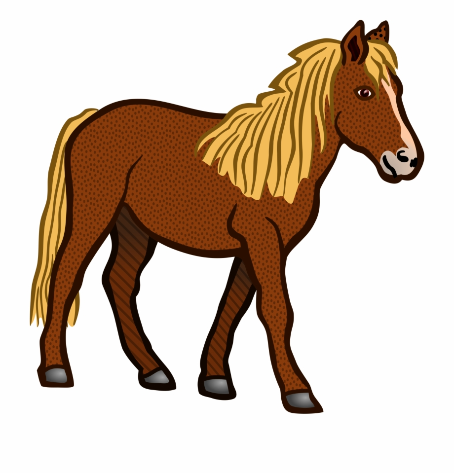 Pferd Coloured Clip Art Horses.