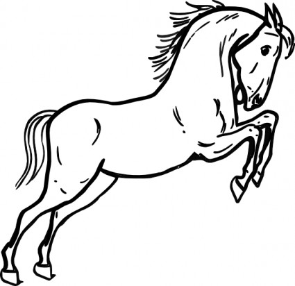 Best Horse Clipart Black and White #28973.
