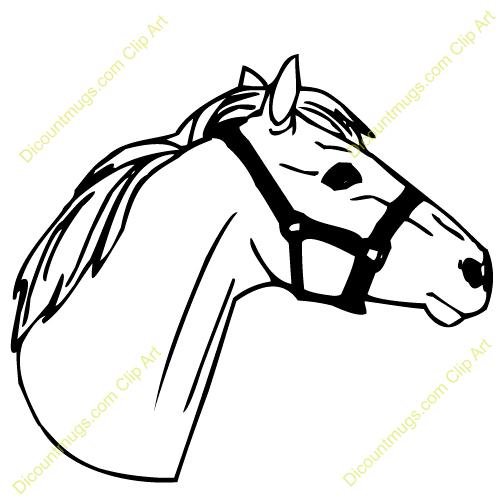Cute Horse Head Clip Art.