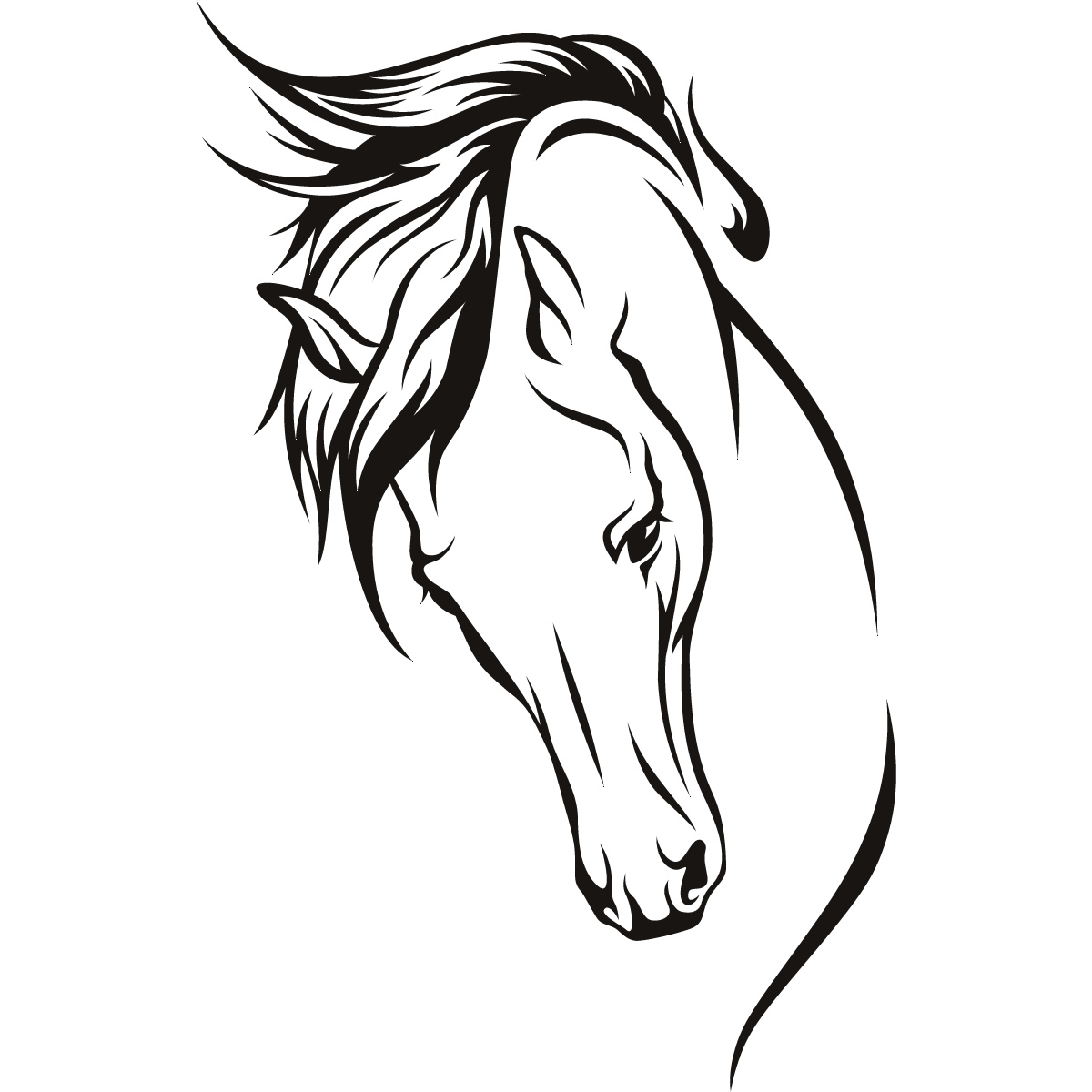Simple Horse Face Clipart.
