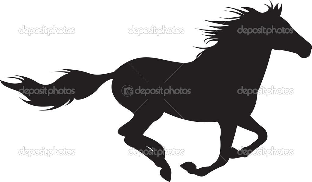 Running Horse Outline.