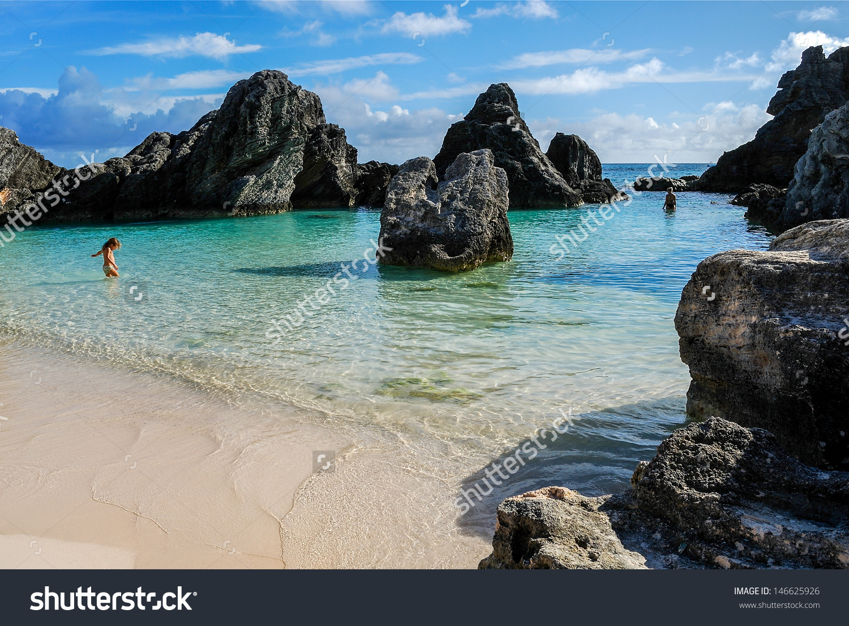 Mayas Cove Horseshoe Bay Beach Bermuda Stock Photo 146625926.