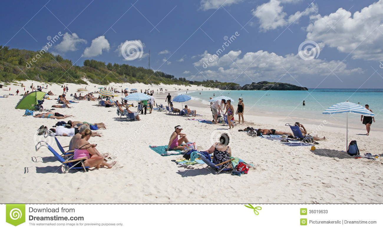 Bermuda Horseshoe Bay Editorial Stock Photo.