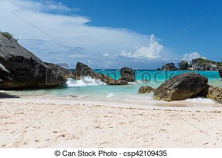 Stock Photos of Horseshoe Bay Bermuda.
