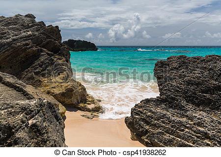 Stock Image of Horseshoe Bay Bermuda.