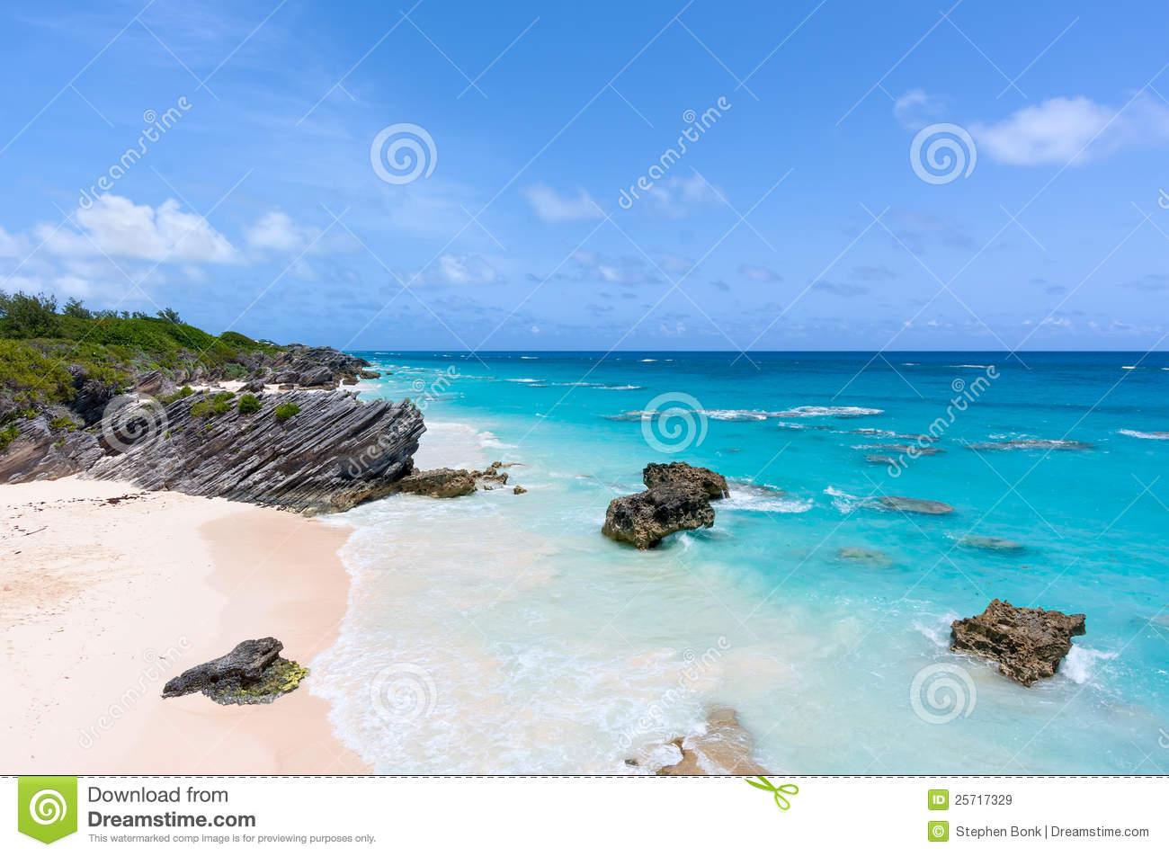 Horseshoe Bay, Bermuda Royalty Free Stock Images.