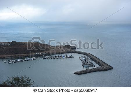 Picture of horseshoe bay, sausalito, yacht, mooring, dock, sea.