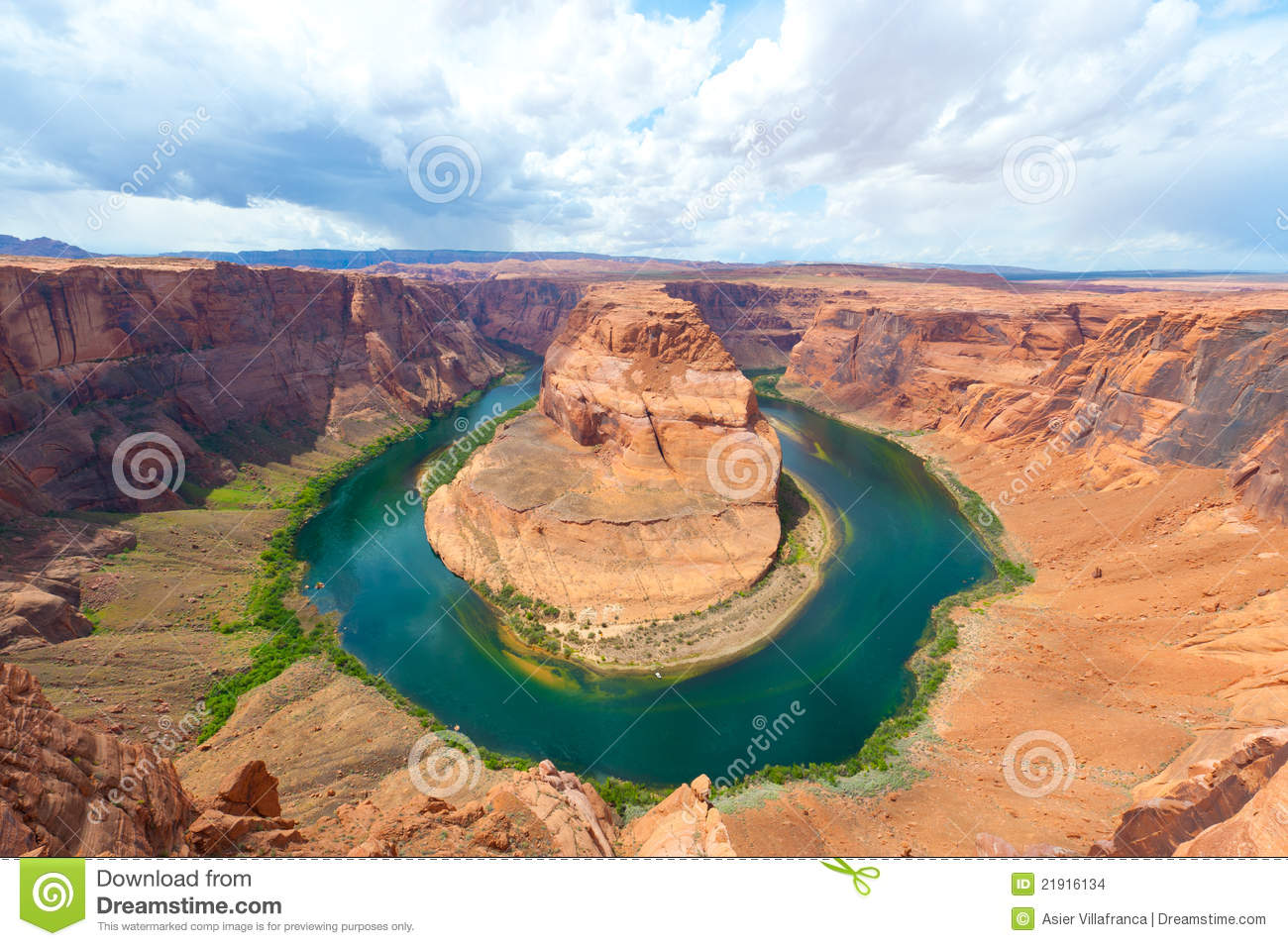 Horseshoe Bend, Arizona Stock Images.