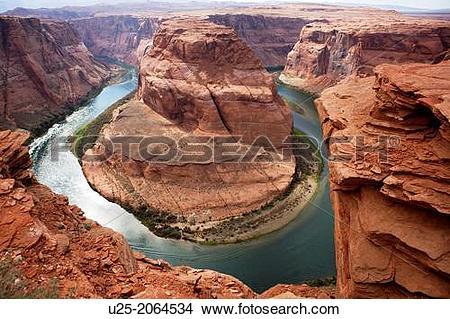 Stock Photo of Horseshoe Bend Trail, Page, Arizona, USA u25.