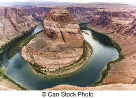 Stock Photography of romantic horseshoe bend in page, Arizona.