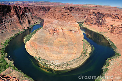 Horseshoe Bend Of Colorado River In Page Arizona Royalty Free.