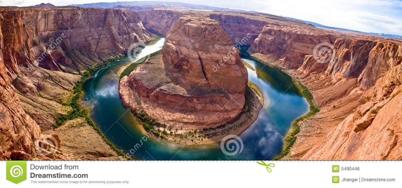 Grand Canyon Horseshoe Bend Panoramic Royalty Free Stock Image.
