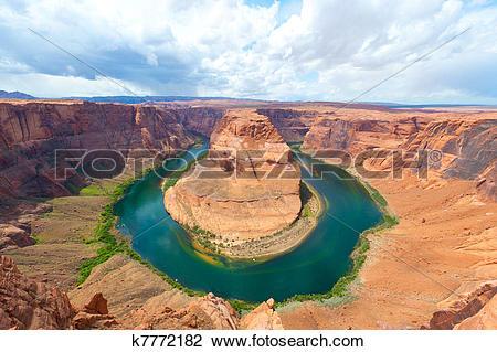 Stock Photo of Horseshoe bend on the Colorado river, Arizona.