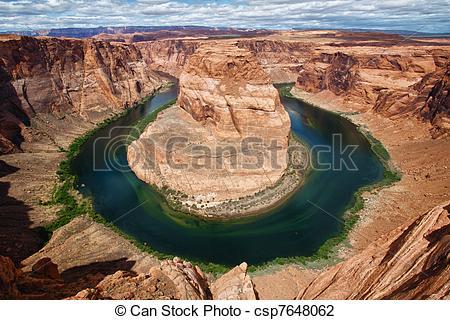 Stock Photo of Horseshoe bend, Utah, USA.
