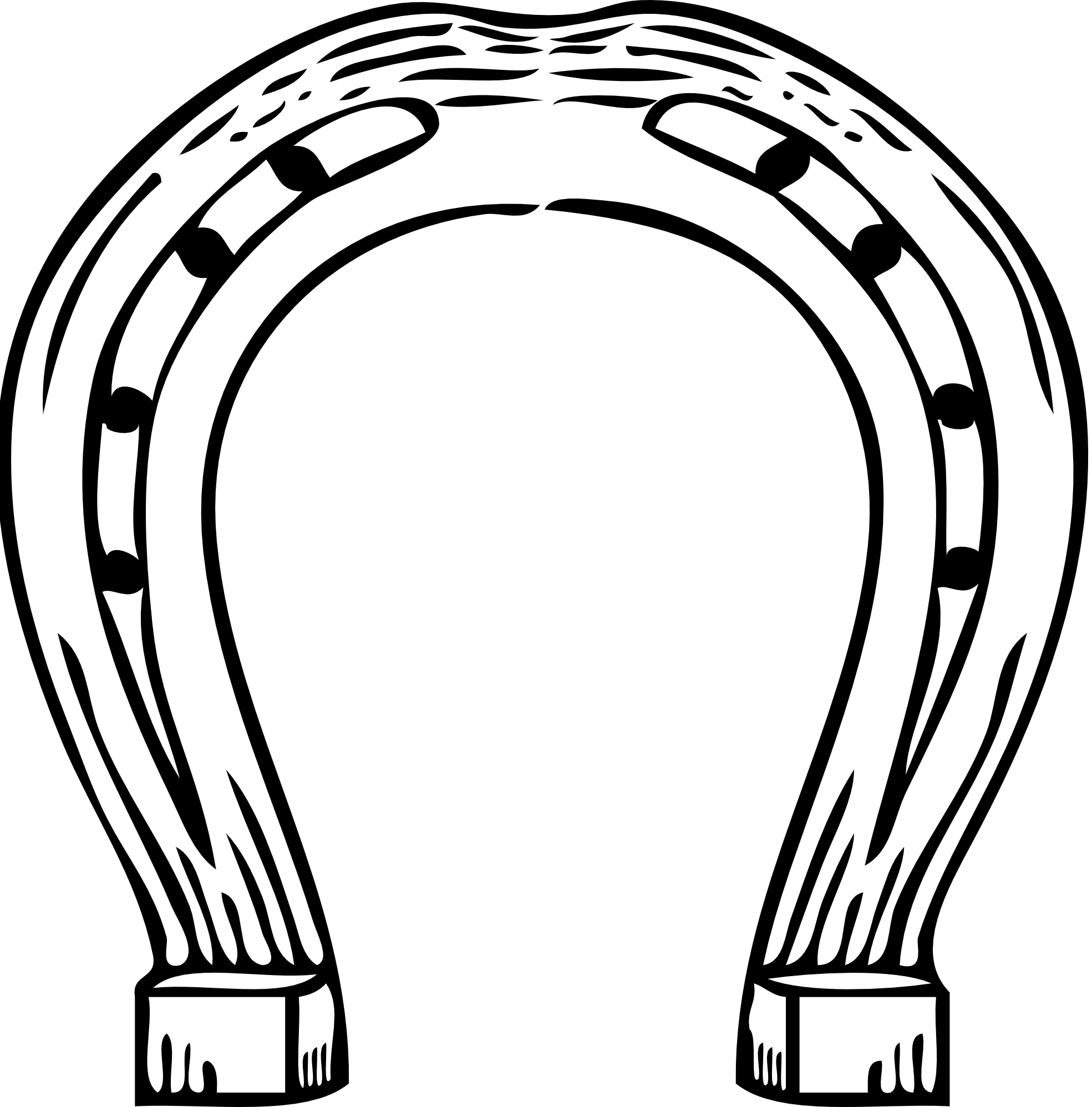 Horse Shoe Clipart Black And White.